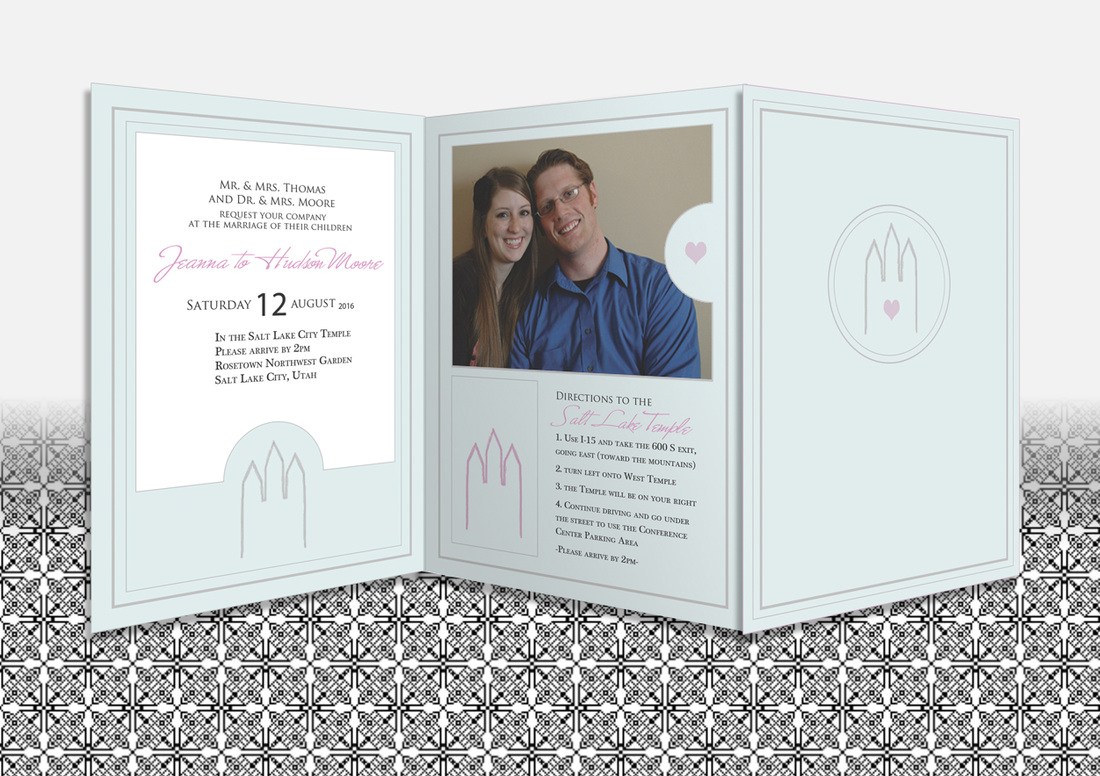 lds wedding invitations, Wedding invitations